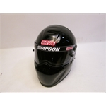Garage Sale - Simpson X-Bandit SA2010 Racing Helmet, Black, Size 7-3/8
