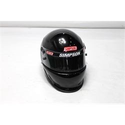 Garage Sale - Simpson Vudo EV1 SA2010 Racing Helmet, Black, Size 7-1/4