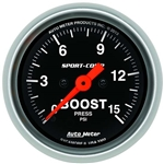 Auto Meter 3350 Sport-Comp Digital Stepper Motor Boost Gauge