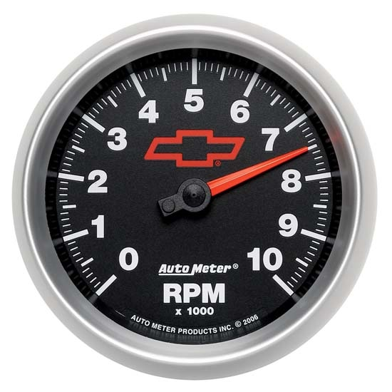 Auto Meter 3697-00406 GM Black Air-Core In-Dash Tachometer Gauge