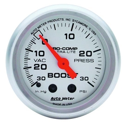 Auto Meter 4403 Ultra-Lite Mechanical Boost/Vacuum Gauge, 2-5/8 Inch