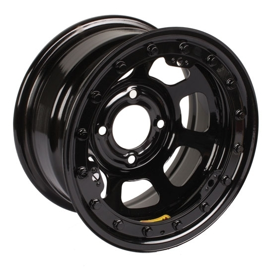 Bassett 58DH3L 15X8 D-Hole 4 on 100mm 3 Inch BS Black Beadlock Wheel