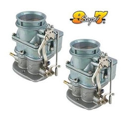 Pair of Speedys 9 Super 7 ® Primary 3-Bolt 2 Barrel Carburetors, Plain