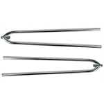 Front Hairpin Radius Rods, 27 Inch, Chrome Steel