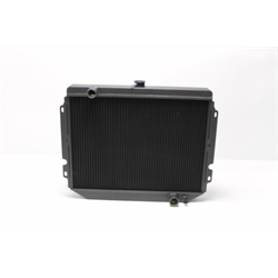 Garage Sale - AFCO Direct Fit 1966-67 Chevelle Alum Radiator, Black Finish, No Trans Cooler