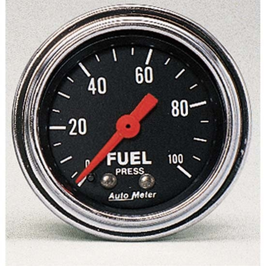 Auto Meter 2412 Traditional Chrome Mechanical Fuel Pressure Gauge