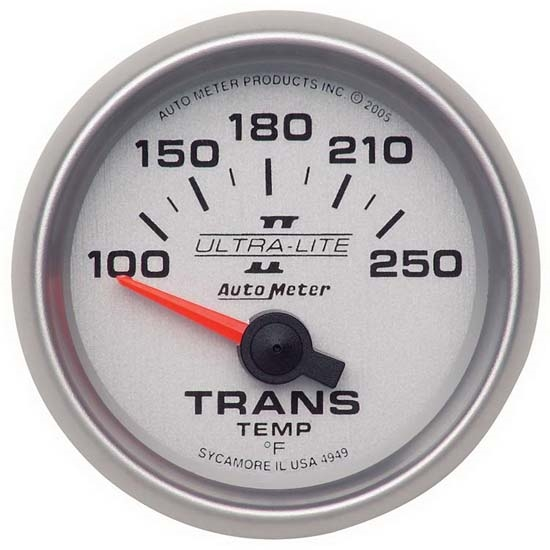 Auto Meter 4949 Ultra-Lite II Air-Core Transmission Temperature Gauge