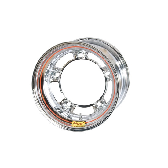 Bassett 50SR45C 15X10 Wide-5 4.5 In Backspace Chrome Armor Edge Wheel