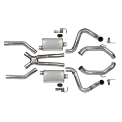 Hooker 42501HKR Header Back Exhaust System, Stainless Steel, 2.5 Inch