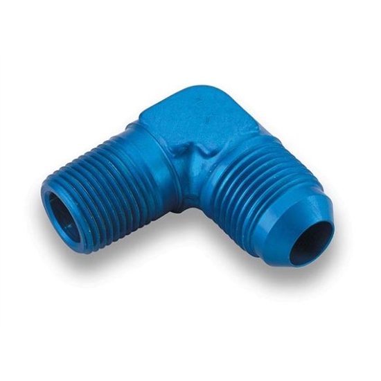 Earls 982212ERL Blue 90 Degree Elbow -12 AN Male to 3/4 Inch NPT
