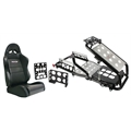 Virtual Racing Chair Frame W/ Black ProCar Seat