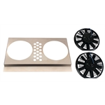 Electric Fan Shroud w/ Two Fans, 25-28 Inch Tank-to-Tank x 14-17 Inch