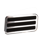 Universal Polished Aluminum Large Brake Pedal Pad