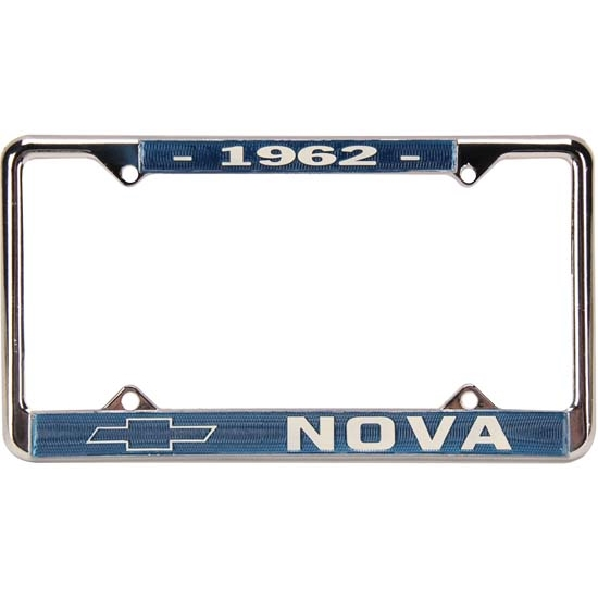OER LP1962 62 Nova License Plate Frame, Pr
