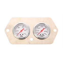 Speedway 2-5/8 Inch Oil Pressure and Water Temp Gauge Set