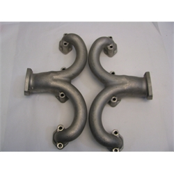 Garage Sale - Tru-Ram Small Block Chevy Stainless Exhaust Manifolds, Unpolished