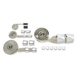 Chrome Braided Hose Covering Kit