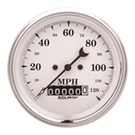 Auto Meter 1679 Old-Tyme White Air-Core Speedometer, 3-3/8 Inch