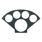 Auto Meter 2122 Carbon Fiber-Look Gauge Faceplate, 1955-56 Chevy Dash