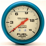 Auto Meter 4211 Ultra-Nite Mechanical Fuel Pressure Gauge, 2-5/8 Inch