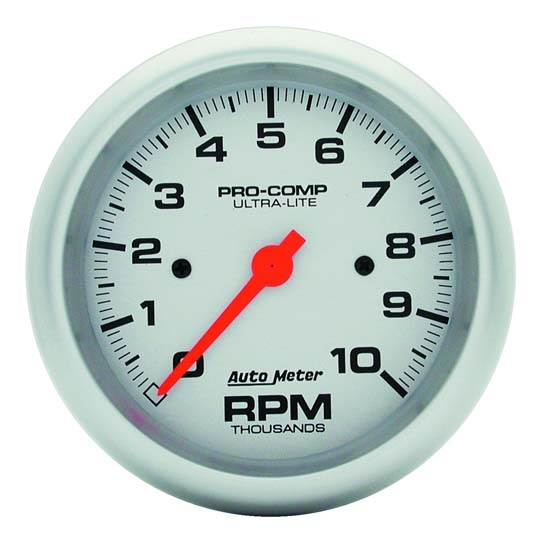 Auto Meter 4497 Ultra-Lite Air-Core In-Dash Tach, 10k RPM, 3-3/8 Inch