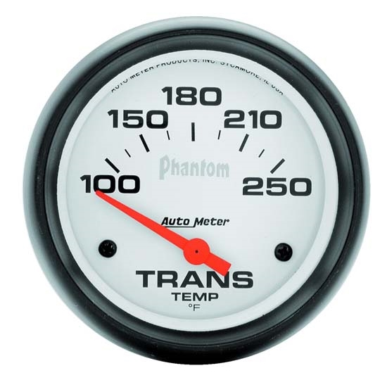 Auto Meter 5857 Phantom Air-Core Transmission Temp Gauge, 2-5/8 Inch