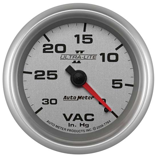 Auto Meter 7784 Ultra-Lite II Mechanical Vacuum Gauge, 2-5/8 Inch