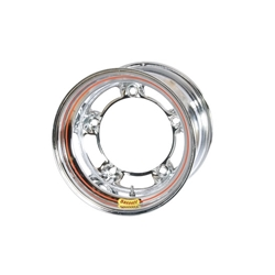 Bassett 57SR4C 15 x 7 Inch Wide-5 Chrome Wheel, 4 Inch Backspace