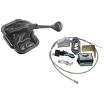 Lokar XCINB-1790 Midnight Series Vert. Rect. LED Shifter Boot Kit, GM