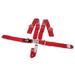 Crow Enterprizes 11002 Bolt-In 5-Point Harness, Pull Down, Red