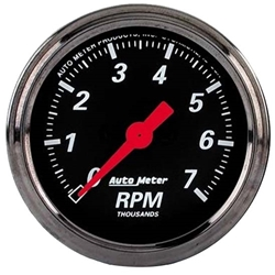 Garage Sale - Auto Meter 1497 Designer Black Air-Core In-Dash Tachometer Gauge