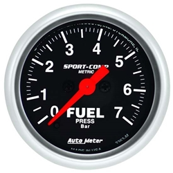 Garage Sale - Auto Meter 3363-M Sport-Comp Digital Stepper Motor Fuel Pressure Gauge