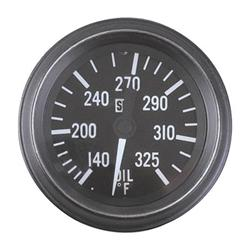 Stewart Warner 284-C72 HD 2-1/16 In. Oil Temperature Gauge, Mechanical
