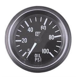 Stewart Warner 284D Heavy Duty 2-1/16 In Oil Pressure Gauge-Mechanical