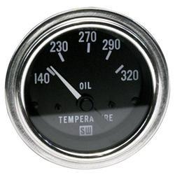 Stewart Warner 82308 Deluxe 2-1/16 Inch Electric Oil Temperature Gauge