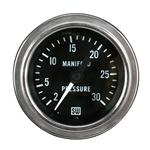Stewart Warner 82321 Deluxe Manifold Pressure Gauge, Mechanical