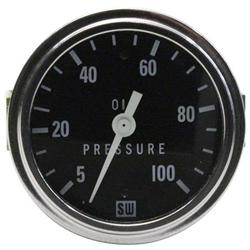 Stewart Warner 82406 2-5/8 Inch Deluxe Mechanical Oil Pressure Gauge