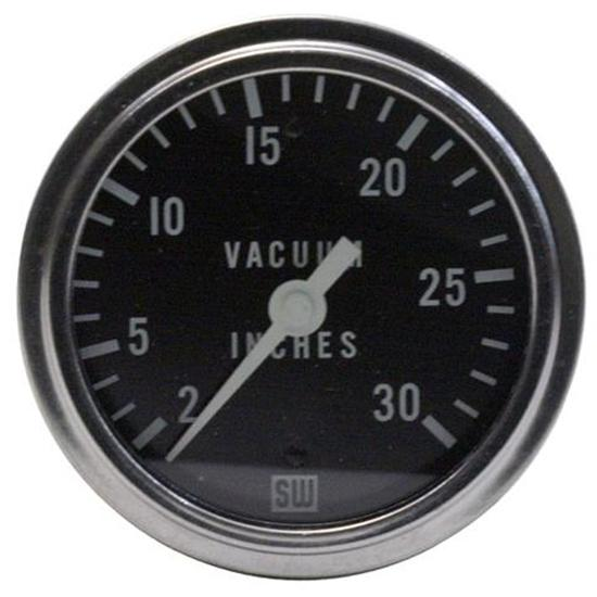 Stewart Warner 82411 2-5/8 Inch Deluxe Racing Mechanical Vacuum Gauge