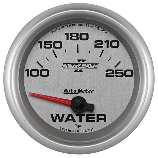 Auto Meter 7737 Ultra-Lite II Air-Core Water Temperature Gauge