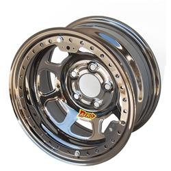 Aero 53-975035BLK 53 Series 15x7 Inch Wheel, BL, 5 on 5 BP, 3-1/2 BS