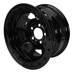 Bassett Wissota Certified Wheel, Beadlock, 15x8, 5 on 5 Inch, Black