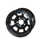 Bassett 58DC4L 15X8 D-Hole 5 on 4.75 4 Inch BS Black Beadlock Wheel