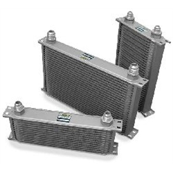 Earls 85000AERL Black -10 AN 50 Row Oil Cooler, Extra Wide