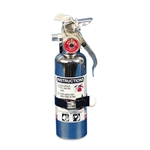 Eddie Motorsports MSEXT-102 Chrome Fire Extinguisher, 1 Pound