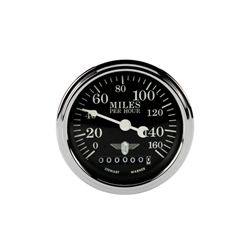 Stewart Warner 82662 Wings Electric Speedometer, Black