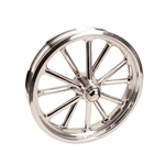 Radir 18x3 Inch Spindle Mount Wheel, Polished