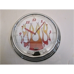 Garage Sale - Flamed Neon Wall Clock, White