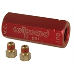 Wilwood 260-3279 Red Residual Pressure Valve with Fittings, 10 PSI