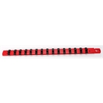 Ernst Mfg 8300-RED-1/4 Socket Organizer, 1/4 Inch Drive