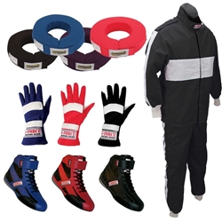 Speedway Pyrovatex Single Layer Two Piece Racing Suit Combo